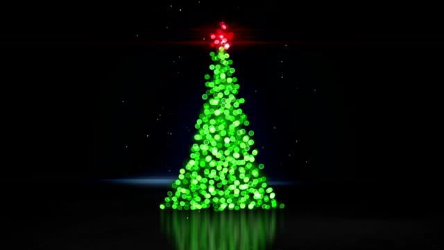 defocused christmas tree bokeh lights loopable animation video