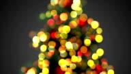 defocused christmas tree lights seamless loop video