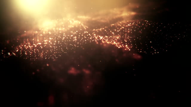 Defocused Gold Particles (Dark) - loopable video