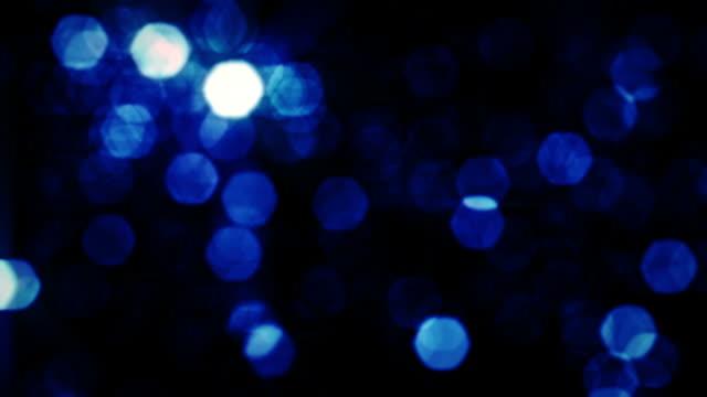 Defocused Hexagons, Blue. video