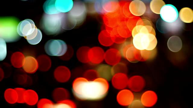 Defocused Image Of Traffic Lights In The Modern City. video