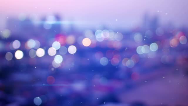defocused lights of night city seamless loop background video