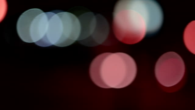 Defocused night traffic lights video