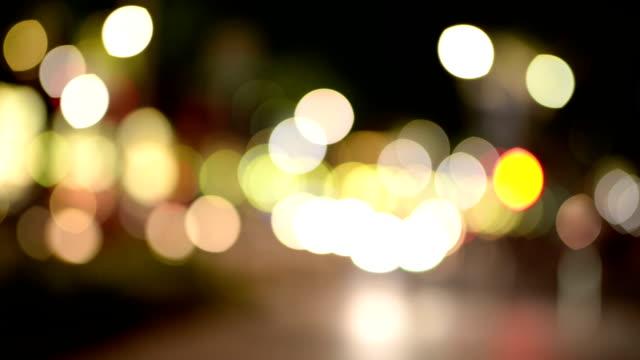 Defocused of Busy Traffic at Night video