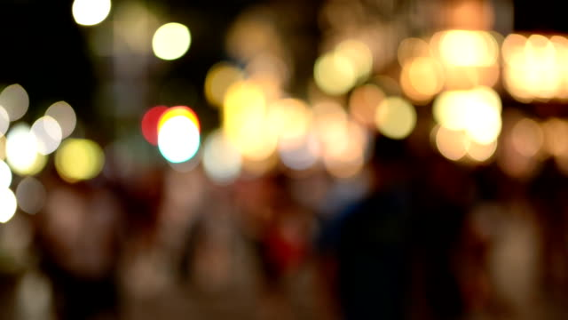 Defocused of Busy Traffic at Night video