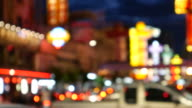 Defocused of Chinatown, Bangkok video