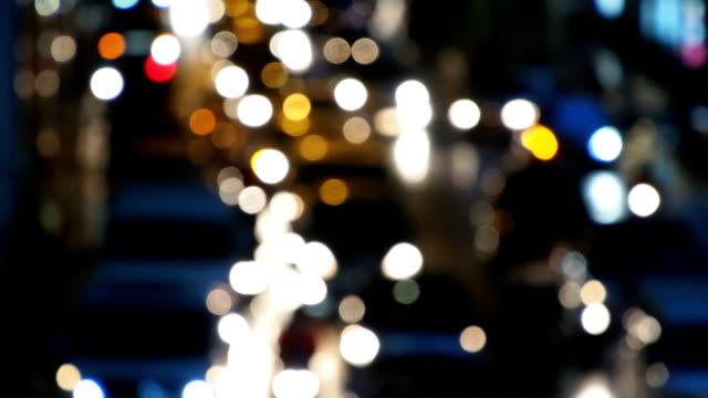 Defocused of traffic jam city video