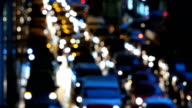 Defocused of traffic jam city video