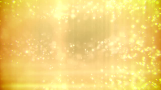 Defocused Particles Background (Gold) - Loop video