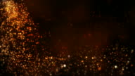 Defocused particles. Falling stars. Brown, Violet, Green. Loopable. video
