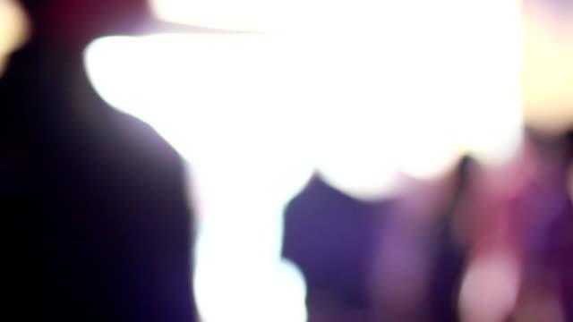 Defocused people background video
