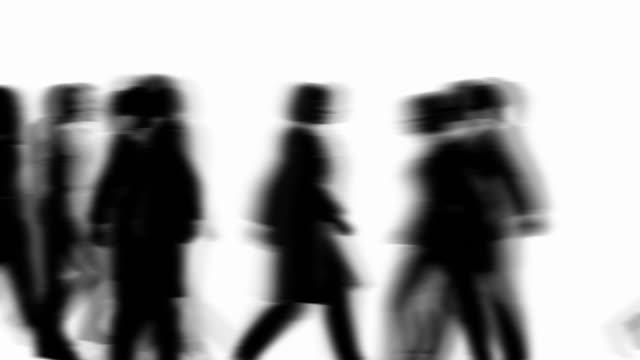 Defocused People Walking By (Silhouette) video