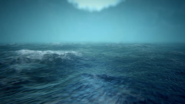 Defocused rough seas video
