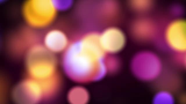 Defocused spots light video