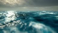 Defocused storm waves video