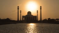 Defocused to focused video sunset at Central Mosque Of Songkhla video