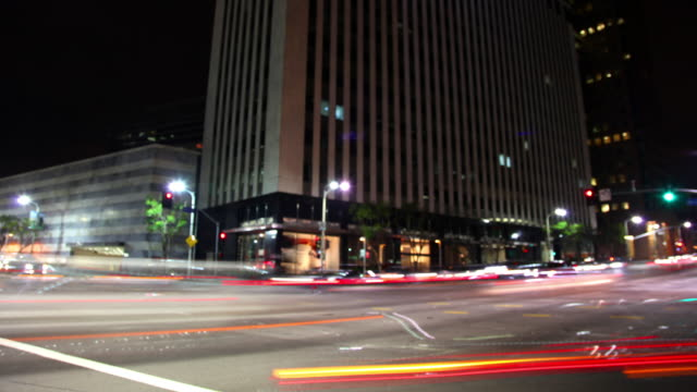 Defocused Traffic at Intersection (Time Lapse) video