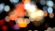 Defocused traffic lights video