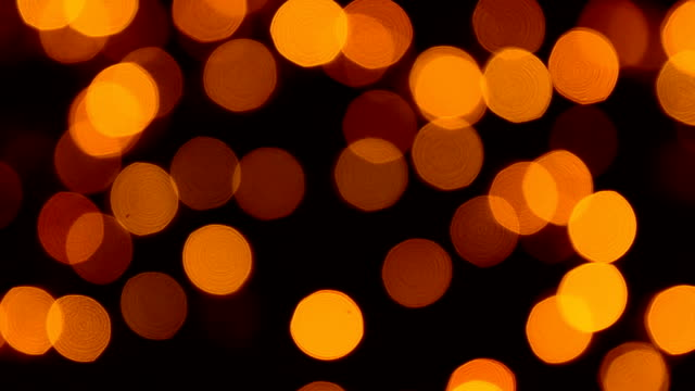 Defocused Yellow Christmas Light video