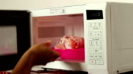 Defrosting Meat on Microwave video