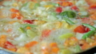 Delicious colorful vegetable video