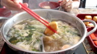 Delicious hot pot shabu meal with seafood video