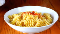 Delicious Italian Pasta Dish with Tomato Sauce and Parmesan Cheese video