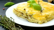 Delicious lasagna with bechamel sauce video