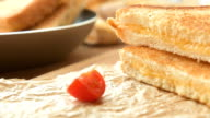 Delicious lunch - roasted sandwiches video
