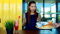 Delicious lunch time to eat video