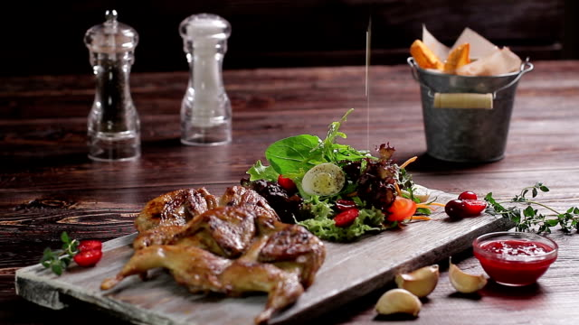 Delicious luxury dish. video
