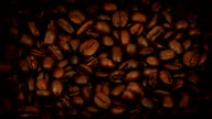 Delicious Rich Coffee Beans Turning Slowly video