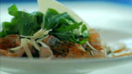Delicious Seafood Salad in Luxury Restaurant. Shot in 4K ultra-high definition UHD , so you can easily crop, rotate and zoom, without losing quality video