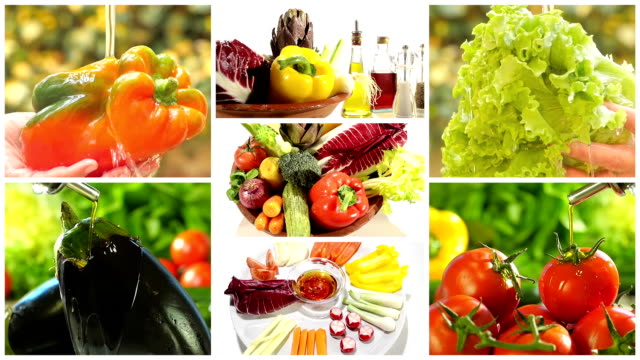 delicious vegetables collage video