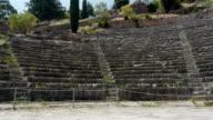 Delphi Greek amphitheater ruins video