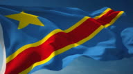 4K Democratic Republic of the Congo Flag - Loopable video