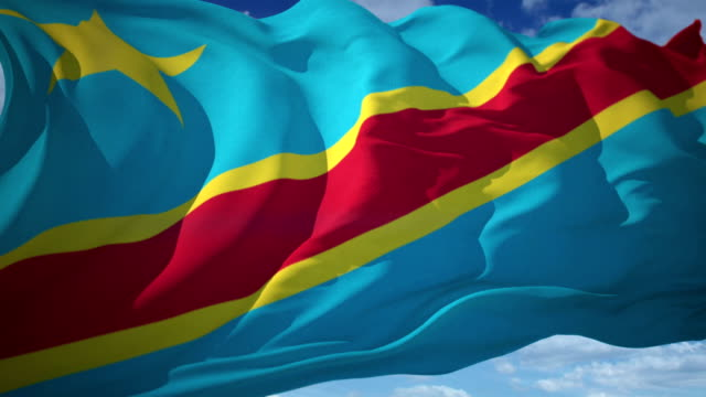 Democratic Republic of the Congo flag video