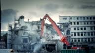 Demolishing a highrise building video