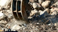 Demolition machinery working. video