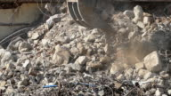 Demolition machinery working.Slow Motion video