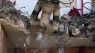 Demolition machinery working.Slow Motion. video