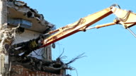 Demolition machinery working.Time Lapse. video