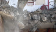 Demolition machinery working.Time Lapse.Slow Motion video