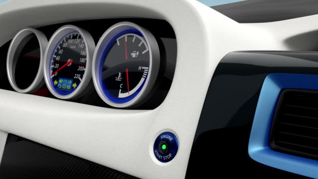 Demonstration of  electric car console design video