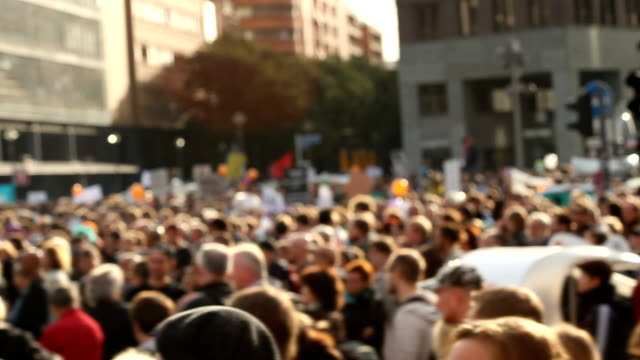 demonstration - people video