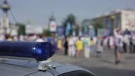 Demonstration. Police Car Lights. video