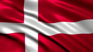 Denmark charming flag video
