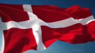 4K Denmark Flag - Loopable video