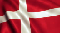 Denmark Flag Video Loop - 4K video