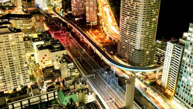 Dense buildings in Minato-ku, Tokyo Japan. video